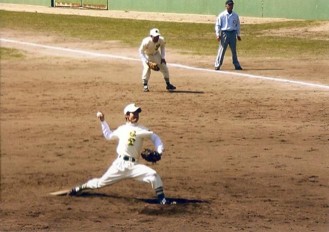 野球をしていました。
